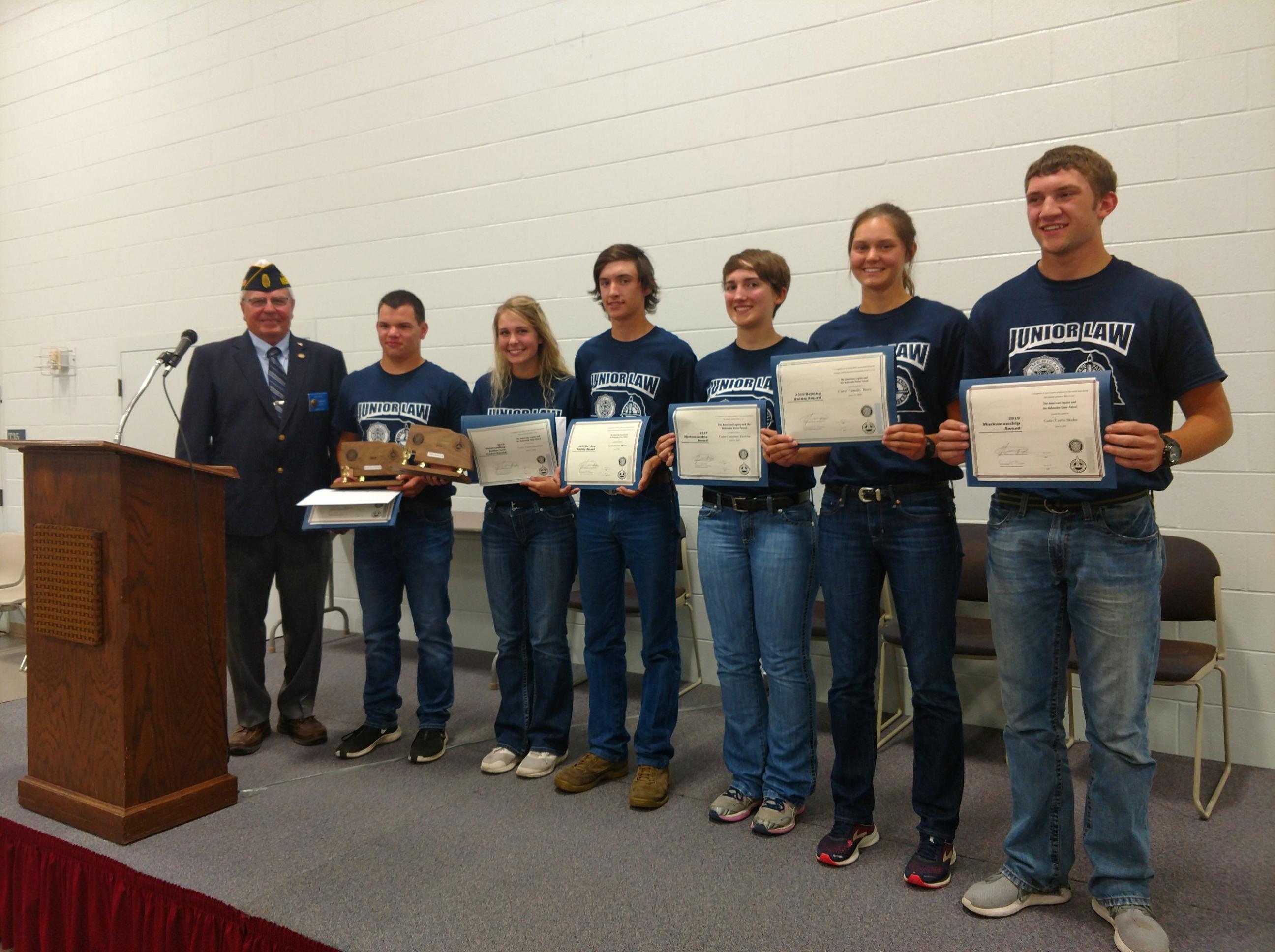 The American Legion - Department of Nebraska - Junior Law Cadet
